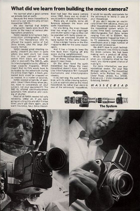 Hasselblad 500C/M, Manufacturer of NASA's Moon Camera